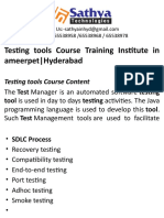 Testing Tools course training institute ameerpet hyderabad