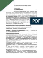 Modelo de Solicitud de Reconstrucción de Expediente Administrativo