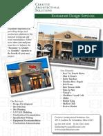 CAS Restaurant Brochure