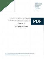Prækvalifikationsrapporten