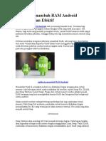 Aplikasi Penambah RAM Android Ampuh Dan Efektif