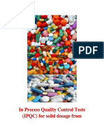 In Process Quality Control Tests (IPQC) for Solid Dosage From