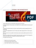30 Minute Guitar Practice Schedule - Da...Weekly Exercises | MATT WARNOCK GUITAR