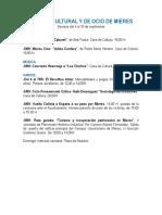 Agenda cultural y de ocio de Mieres. Semana del 4 al 10 de septiembre