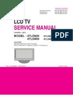 Lg 47ld920-Za 47ld950-Za Chassis Ld01i