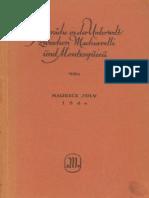 Joly, Maurice - Gespräche in der Unterwelt zwischen Machiavelli und Montesquieu (1864, 261 S., Scan, Fraktur)