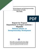 Corrigendum Indicated in RFP for Empanelment of PIs
