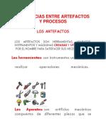 Diferencias Entre Artefactos y Procesos