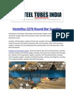 Hastelloy C276 Round Bar Supplier