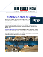 Hastelloy C276 Round Bar Supplier