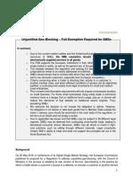 FSB Position Paper on Geoblocking 2017