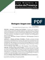 Estudos da presença montagem e imagem como paradigma.