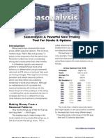 Seasonal Stock Trading and Analysis
