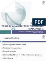 Lesson 2a Tools of Analysis for International Trade Models