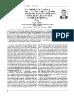 2_12_Cu Privire La Posibila Neconstitutionalitate a Unor Amendamente Recente Operate in Codul Penal