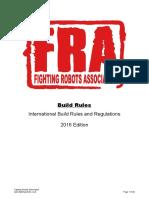 Battle bot build rules