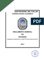 Reglamento General de Estudios Unac 2017