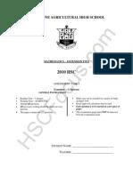 Ext 2 Maths - HSC Task 1 - 2010.Text.marked