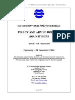 2016 Annual IMB Piracy Report