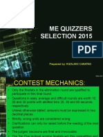 ME Quizzers Selection