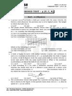 Neet - Combined Test - 4 (p, c, b) - 20.08.2017