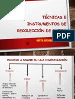 Curso Met. Investigacion -Tecnicas e Instrumentos de Recoleccion de Datos