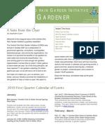 1st Quarter 2010 the Rain Gardner Newsletter, Central Ohio Rain Garden Initiative