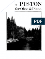 Piston Suite for Oboe and Piano