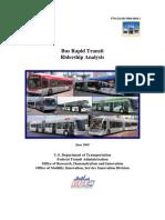 WestStart BRT Ridership Analysis Final