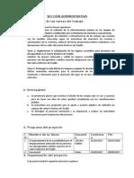 Propuesta de Solución - Sección Administrativa