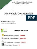 Apresentação - Resistência dos Materiais - Márcio 2-2017.ppt