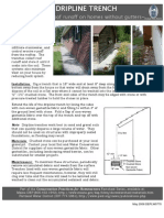 Dripline Trench - Managing Rainwater Runoff From Your Roof Without Gutters