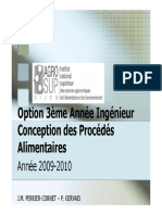 Conception de Procedes Alimentaires