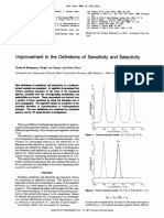 Improvement in the Definitions of Sensitivity and Selectivity