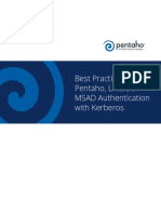 Pentaho Linux MSADAuth With Kerberos