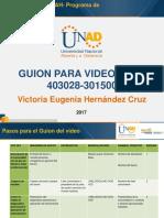 Guion Del Video 2017