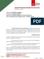 Manoel Messias Alves de França - Contestação