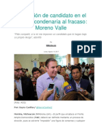 14.08.17 Imposición de candidato en el FAD, lo condenaría al fracaso
