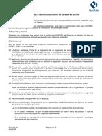Reglamento Sistema de Gestión. Versión 06