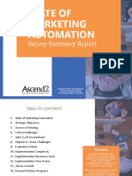 State of Marketing Automation Survey Summary Report 170407