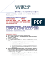 Requisitos Certificado Defensa Civil Detalle