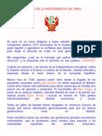 Discurso de La Independencia Del Peru