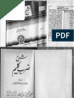 Sharah i Zarb-i-Kalim by Yousaf Saleem Chishti (Commentary of Iqbal's Urdu Poetry Book)
