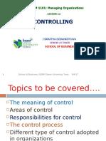 Session 12. Controlling. PGD. SOB. September 2017