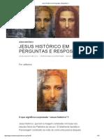 Jesus Histórico Em Perguntas e Respostas _