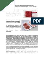 Envasado de Carne Picada en Flow Pack en Atmósfera Modificada DIAPOSITIVA