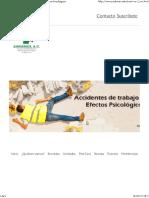 Efectos Psicologicos de Los Accidentes de Trabajo Secundarios