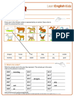Worksheets Chinese Zodiac