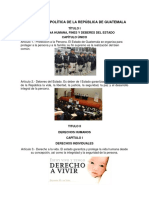 Constitución Política de La República de Guatemala Art. 1-46 Ilustrado