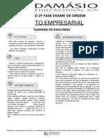 Simulado - 2ª Fase - Empresarial - XXIII Exame da OAB